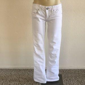 American Eagle White Skinny Kick Jeans sz 2 Reg!